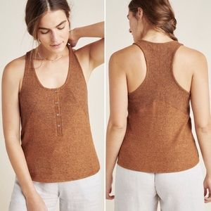 Anthropologie Lucie Ribbed Racerback Tank